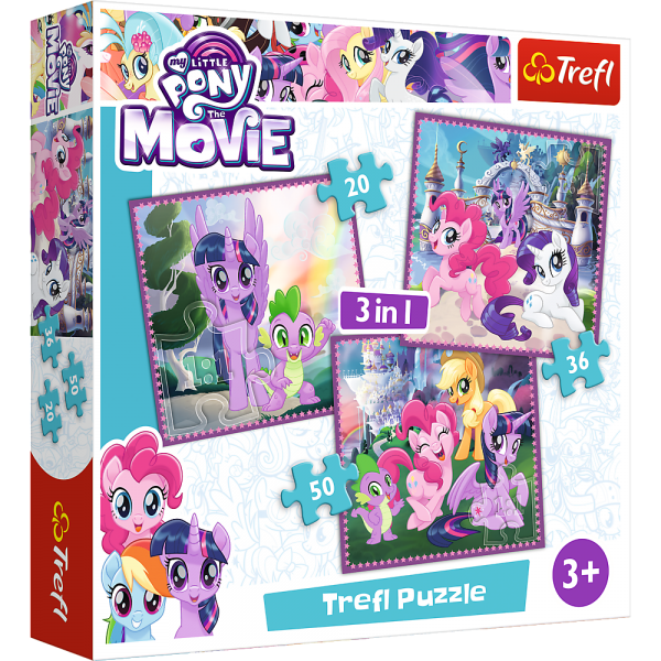 Puzzle 3 in 1 - My Little Pony: Il Film